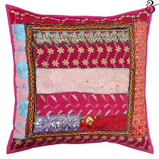 Cushion Cover: India Handmade 100% Cotton Embroidered Kantha Sofa Pillow Covers