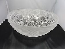 VINTAGE LALIQUE PINSONS FINCHES  9.25 INCH BOWL