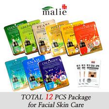 12pcs Malie Ultra Hydrating Essence Mask Sheet Pack Korean Cosmetics Skin Care