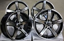 "18"" CRUIZE BLADE BLACK & POLISHED 5 SPOKE CONCAVE 5X110 18 INCH ALLOY WHEELS"