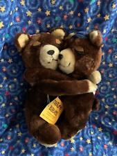 "1977 Dakin Nature Babies Hugging Bears 9"" Plush Stuffed Animals Toys"