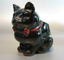 Vintage 1950's Shafford Halloween Black Cat sugar bowl or Planter Japan Bow Tie