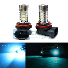 2x Ice Blue H11 H8 LED Bulbs 15W SMD 5730 High Bright Fog Light DRL + Projector