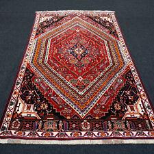 Orient Teppich Rot 250 x 150 cm Blau Perserteppich Handgeknüpft Red Blue Carpet