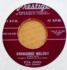 ETTA JONES - UNCHAINED MELODY b/w HURRY HOME - PRESTIGE 45