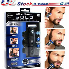 Men Micro Touch SOLO Rechargeable Trimmer Razor Shaver Edges W/ 3 PCS Combs Gift