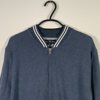 Five Four Mark McNairy Blue Thin Cotton Bomber Jacket - Mens M
