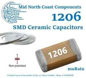 2/5/10pcs 1206 (3216) MLCC Chip Capacitor SMD Multi Layer Ceramic Caps