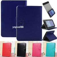 """US For 7"""" 8"""" 9"""" 10.1"""" Inch Tablet PC Universal PU Leather Flip Stand Case Cover"""
