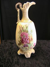 VINTAGE PORCELAIN PITCHER~R HANKE~ROYAL WETTINA~AUSTRIA~hand painted gold trims