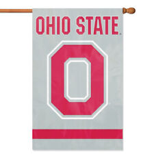 Ohio State Buckeyes O House Banner Flag PREMIUM Outdoor DOUBLE SIDE Embroidered