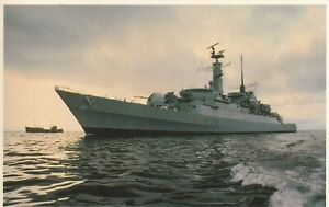 Postcard Falklands Task Force HMS Alacrity Armed with Exocet and Seacat Missiles