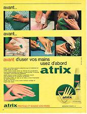 PUBLICITE ADVERTISING 084  1963   ATRIX   creme pour les mains