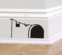 Agujero de ratón B213 Pared Arte Pegatina Vinilo de lavado ratones Casa Rodapié Gracioso