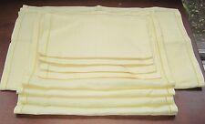9 Piece Set Elegant Edged Yellow 4 Napkins 4 Placemats 1 Table Runner