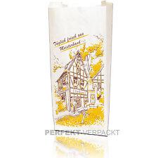 """1000 Faltenbeutel 16x7x40cm #430 Bäckerbeutel Papiertüten """"Täglich frisch"""""""