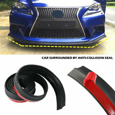 """Universal 100"""" Car Lip Skirt Protector Front Bumper Spoiler Side Splitter Rubber"""