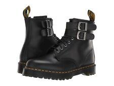 Para mujeres Zapatos Dr. Martens 1460 Botas De Cuero Hebilla De Alt 24633001 Negro Liso