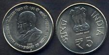 INDIA 5 Rupees 2012 Ann. Motilal Nehru UNC