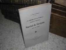 1913.Martial de Savignac , curé de Vaiges / Savignac.révolution chouans Mayenne