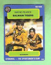 1990 BALMAIN TIGERS RUGBY LEAGUE CARD #18  WAYNE PEARCE
