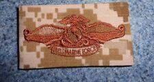 NAVY,FMF,FLEET MARINE FORCE ,BADGE,CLOTH,SPECIAL WARFARE NWU TYPE III AOR brown