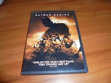 Batman Begins (Dvd, 2005, 2-Disc Widescreen Deluxe Edition) Christian Bale Used