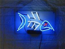 "Fish Bones Acrylic Neon Sign 14"" Room Light Lamps Gift Artwork Decor Poster"
