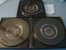 Lot Of 3 Pacific Ocean The Seven Seas Crystal Plate Collection James Wyeth 1979