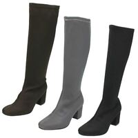 Ladies Spot On Knee High 'Boots'