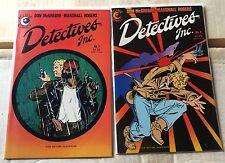 Detective Inc (1985) #1 2 Complete Set High Grade Eclipse Comics