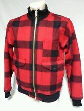 VTG CC Filson Mackinaw Jacket Coat Virgin Wool Plaid Hunting Cruiser USA Small