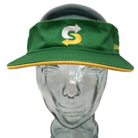 Subway Restaurant Visor Hat Cotton Green OSFM Strap Back Cap