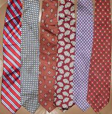 Polo Ralph Lauren, Lauren RL & Chaps LOT 6 Men Neckties 100 % Silk (LOT 2345)