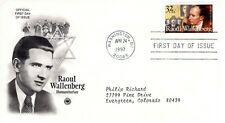 1997 COMMEMORATIVE RAOUL WALLENBERG PCS CACHET MACHINE ADDRESSED FDC
