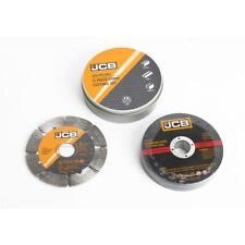 JCB Winkelschleifer Zubehör Set 12-teilig 115 mm Trennscheibe und Diamantscheibe