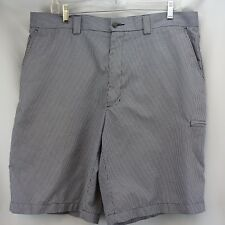 Men's Golf Shorts 36 Pro Tour Black White Check