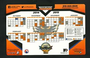 Lehigh Valley Phantoms--2014-15 Magnet Schedule--AHL--Flyers Affiliate