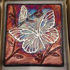 Butterfly Raku Wall Art - handmade, handsigned - NEW