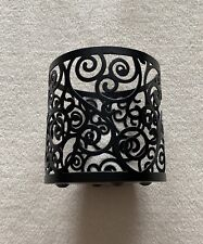 New Yankee Candle Black Scroll Metal Jar Holder