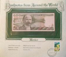 World Banknotes Mexico 1982 500 Pesos 1982 P 75b Unc serie Cc prefix X