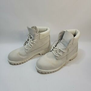 Timberland Ghost White Boots s/7 Used 400 Gram Waterproof All White