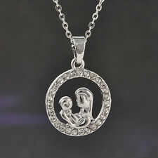 Family Jewelry Mon and Son Necklace Pendant Mother's day Gift Christmas Jewelry