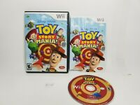 Toy Story Mania (Nintendo Wii, 2009) Complete w Manual kids game A7
