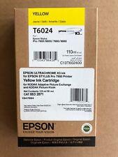 GENUINE EPSON Yellow INK T6024 STYLUS PRO 7880, 9880, 7800, 9800 -FACTORY SEALED