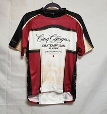 Primal Mens Cycling Jersey Size Large 1/2 Zipper Chateau Wine Theme