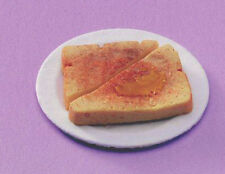 Dolls House Miniature:  Slice of Toast on a Plate  :  in 12th scale