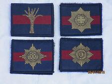 Scots-Welsh-Irish-Coldstream Guards,Klett ,blau/bordeux/blau, 50x65mm,LOT1