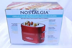 Retro Combination Hot Dog Toaster & Bun Warmer Adjustable Cook Time - Red