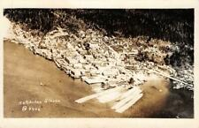 RPPC Ketchikan, Alaska Aerial View c1910s Real Photo Vintage Postcard
